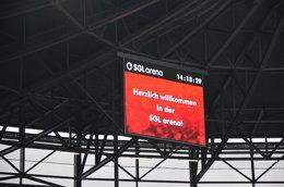 U9 als Einlaufeskorte beim FC Augsburg